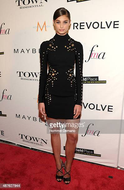Model Taylor Hill attends The Daily Front Row's Third Annual Fashion Media Awards at the Park Hyatt New York on September 10 2015 in New York City