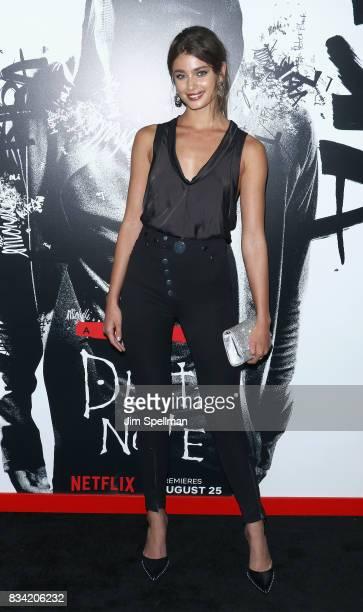 Model Taylor Hill attends the 'Death Note' New York premiere at AMC Loews Lincoln Square 13 theater on August 17 2017 in New York City