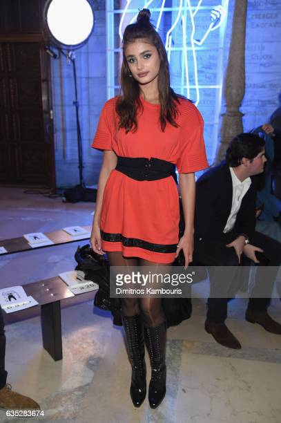 Model Taylor Hill attends the Philipp Plein Fall/Winter 2017/2018 Women's And Men's Fashion Show at The New York Public Library on February 13 2017...