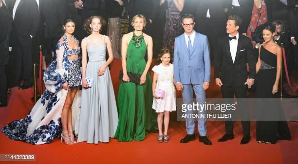 US model Taylor Hill Danish director Nicolas Winding Refn's daughter Lola Corfixen her mother Danish actress and director Liv Corfixen Danish...