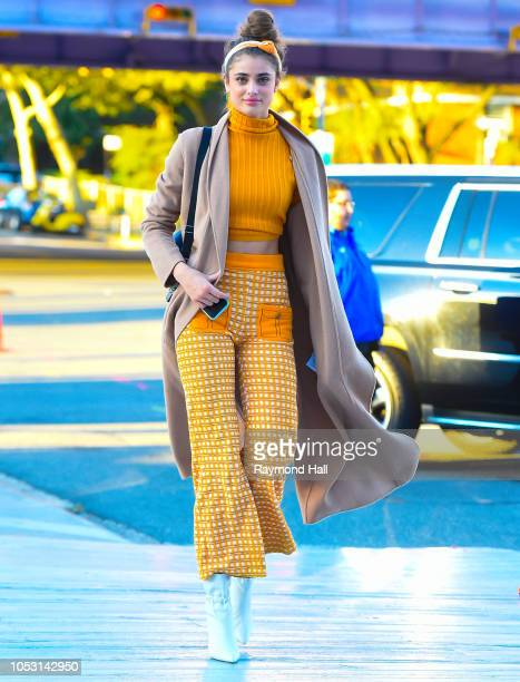 Model Taylor Hill is seen Fashion Show on October 24, 2018 in New York City.
