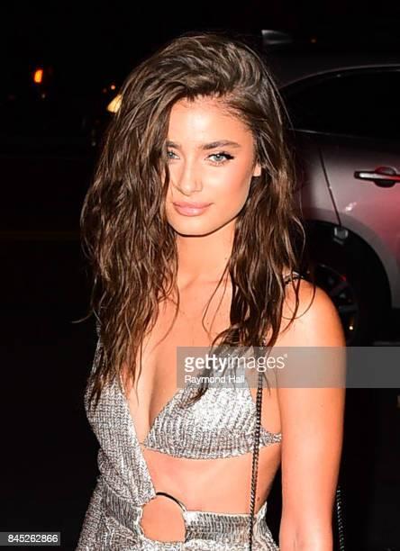 Model Taylor Hill is seen in Soho on September 9 2017 in New York City