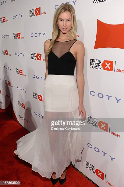 Model Taylor Kraemer attends the 2013 Delete Blood Cancer Gala which honors Vera Wang Leighton Meester and Suzi WeissFischmann on May 1 2013 in New...
