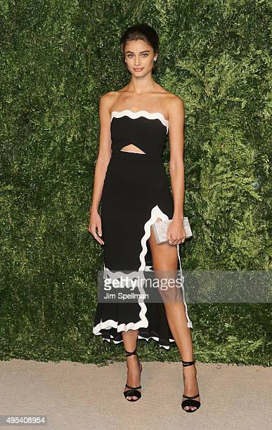 Model Taylor Marie Hill attends the 12th annual CFDA/Vogue Fashion Fund Awards at Spring Studios on November 2 2015 in New York City