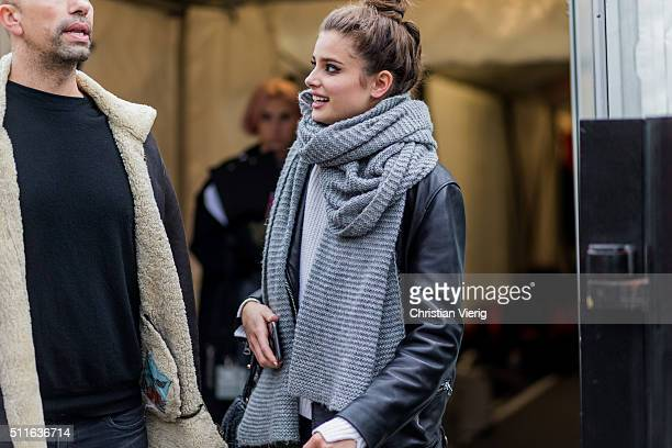 Model Taylor Marie Hill seen outside Topshop during London Fashion Week Autumn/Winter 2016/17 on February 21 2016 in London England