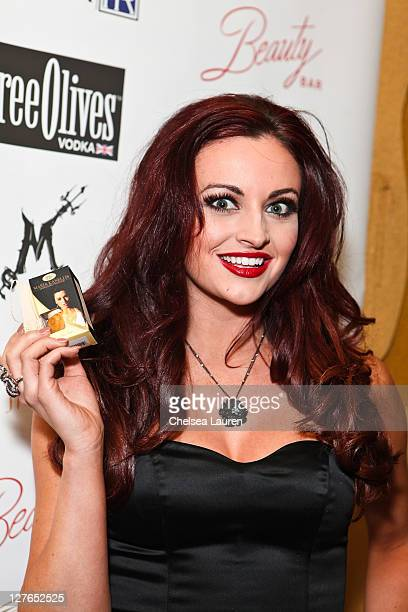 Model / television personality Maria Kanellis arrives at Maria Kanellis' signature perfume line launch party at Beauty Bar on April 13 2011 in...