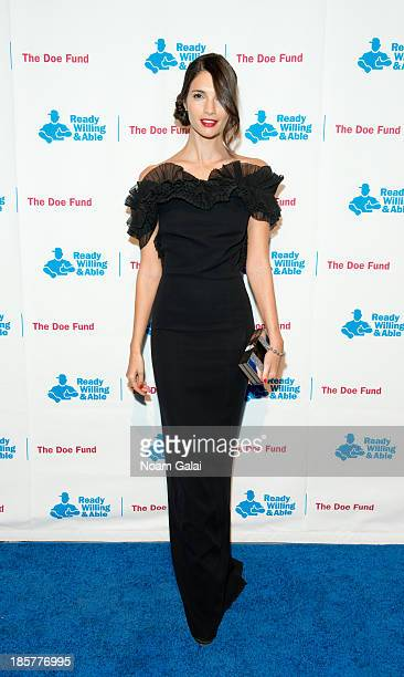 Model Teresa Moore attends the 2013 Doe Fund gala at Cipriani 42nd Street on October 24, 2013 in New York City.