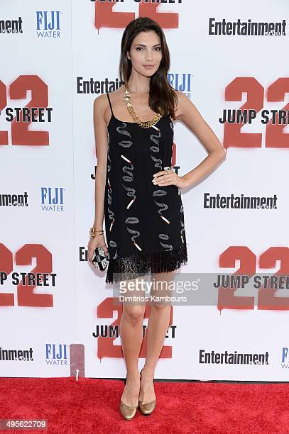 Model Teresa Moore attends the New York screening of 22 Jump Street at AMC Lincoln Square Theater on June 4 2014 in New York City
