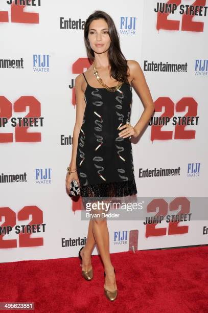 Model Teresa Moore attends the New York screening of 22 Jump Street hosted by FIJI Water at AMC Lincoln Square Theater on June 4 2014 in New York City