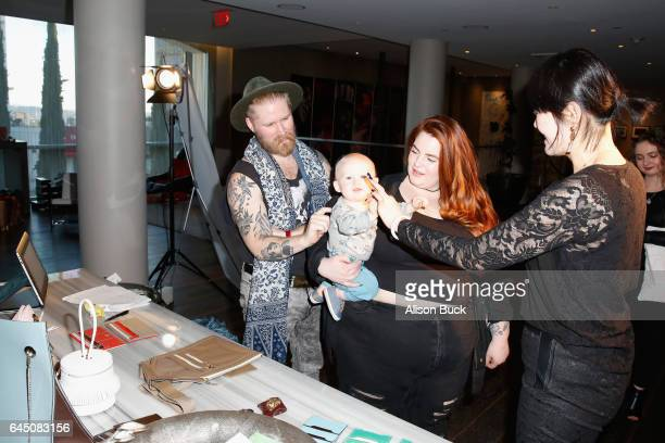 Model Tess Holliday and Nick Holliday attend Kari Feinstein's PreOscar Style Lounge at the Andaz Hotel on February 24 2017 in Los Angeles California