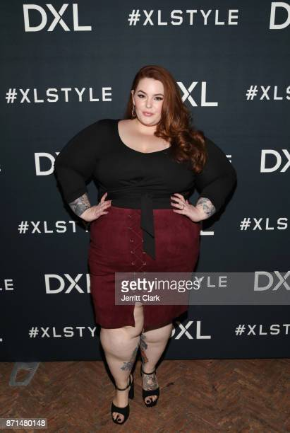 Model Tess Holliday at the launch of DXL's 2017 Holiday Campaign with DJ Khaled at AOC on November 7 2017 in Los Angeles California