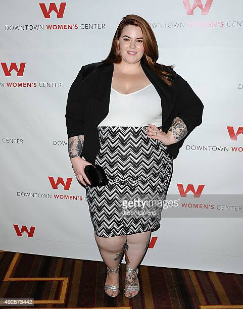 Model Tess Holliday attends the Dinner With a Cause 18th annual gala at JW Marriott Los Angeles at LA LIVE on October 15 2015 in Los Angeles...