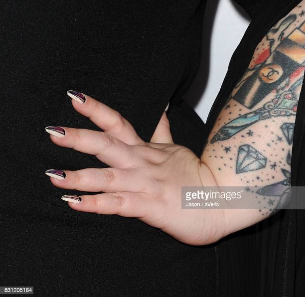 Model Tess Holliday nail detail attends the 5th annual Beautycon festival at Los Angeles Convention Center on August 13 2017 in Los Angeles California