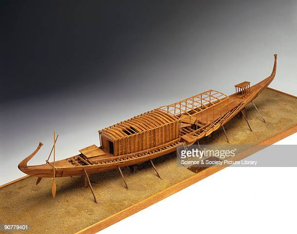 Model The ship on which this model is based was built for ceremonial purposes and was discovered in a pit at the foot of the Great Pyramid of King...