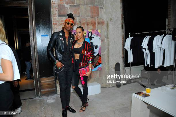 Model Thrash and designer Coffey attend Karen Bystedt's 'Kings And Queens' exhibition on March 9 2017 in Los Angeles California