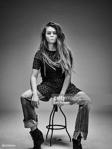 Model Thylane Blondeau is photographed for a fashion editorial for Flaunt Magazine on February 16 2016 in El Segundo California