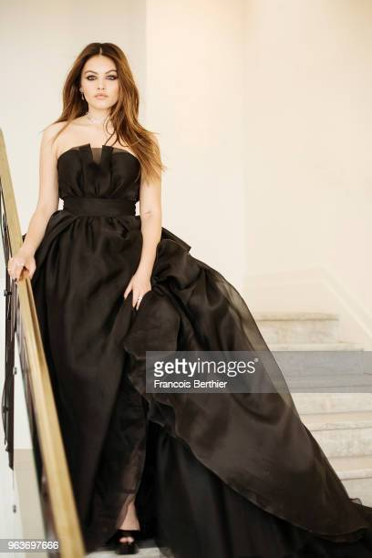 Model Thylane Blondeau is photographed for Gala Croisette on May 2018 in Cannes France