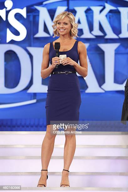 Model Tiffany Coyne attempts a deal with a trader on the Daytime Emmy Award winning game show LET'S MAKE A DEAL on Thursday Dec 4 on the CBS...