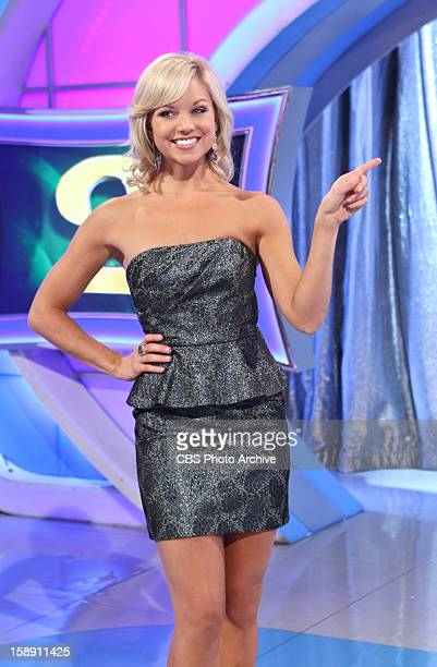 Model Tiffany Coyne is all smiles as she showcases the latest prize up for deal for one lucky trader on LET'S MAKE A DEAL Monday Jan 7 on the CBS...