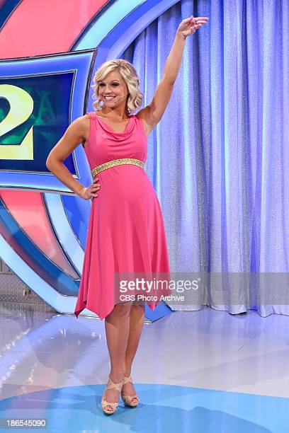 Model Tiffany Coyne who was expecting at the time struck a pose that we'll all see on her baby shower episode of LET'S MAKE A DEAL airing November 4...