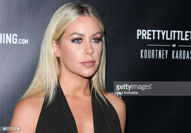 Model Tiffany Stanley attends the PrettyLittleThing by Kourtney Kardashian launch party on October 25 2017 in Los Angeles California