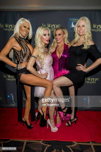 Model Tiffinie Tee television personality Angelique Frenchy Morgan producer Suzie Malone and host Mary Ann Sheikhan attend the opening night of Le...