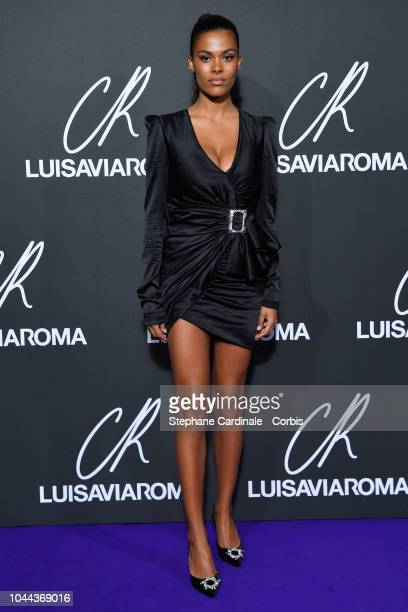 Model Tina Kunakey Cassel attends the CR Fashion Book x Luisaviaroma Photocall as part of the Paris Fashion Week Womenswear Spring/Summer 2019 on...