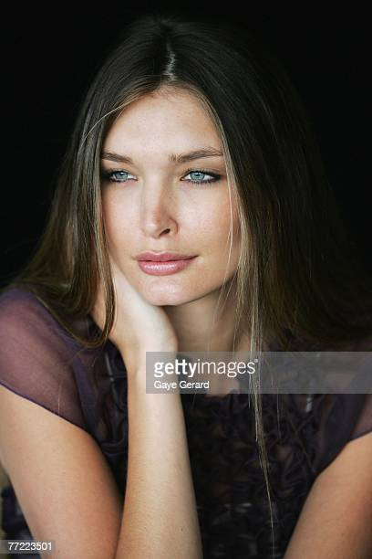Model Tione attends the launch of the Australian Fashion Laureate award ahead of the start of Rosemount Australian Fashion Week tomorrow at the...