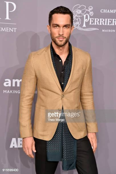 Model Tobias Sorensen attends the 2018 amfAR Gala New York at Cipriani Wall Street on February 7 2018 in New York City