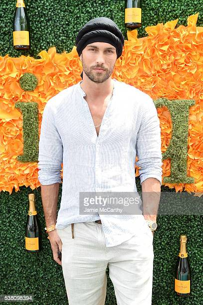 Model Tobias Sorensen attends the Ninth Annual Veuve Clicquot Polo Classic at Liberty State Park on June 4 2016 in Jersey City New Jersey