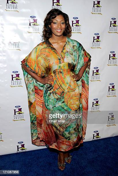 Model Toccara Jones arrives at the ninth annual Ford Hoodie Awards at the Mandalay Bay Events Center August 13, 2011 in Las Vegas, Nevada.