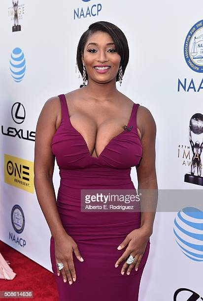 Model Toccara Jones attends the 47th NAACP Image Awards presented by TV One at Pasadena Civic Auditorium on February 5 2016 in Pasadena California