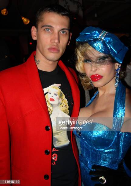Model Todd White and amanda Lepore Attend The Toy Drive For St Jude's on December 11 2007 in New York City New York