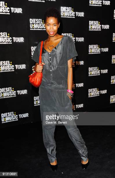 Model Tolula Adeyemi attends the DieselUMusic World Tour Party held at the University of Westminster on October 1 2009 in London England