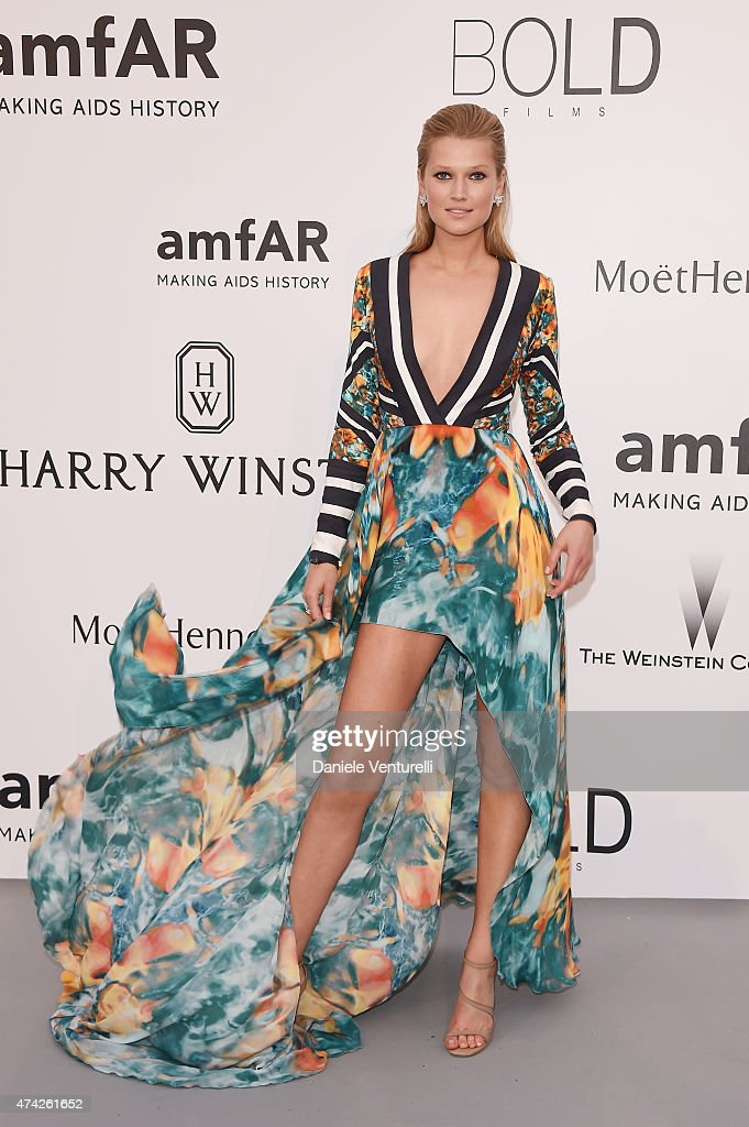 Model Toni Garrn attends amfAR's 22nd Cinema Against AIDS Gala, Presented By Bold Films And Harry Winston at Hotel du Cap-Eden-Roc on May 21, 2015 in Cap d'Antibes, France.
