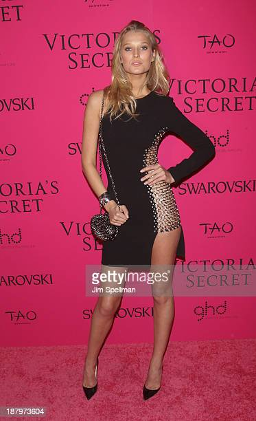Model Toni Garrn attends the after party for the 2013 Victoria's Secret Fashion Show at TAO Downtown on November 13 2013 in New York City