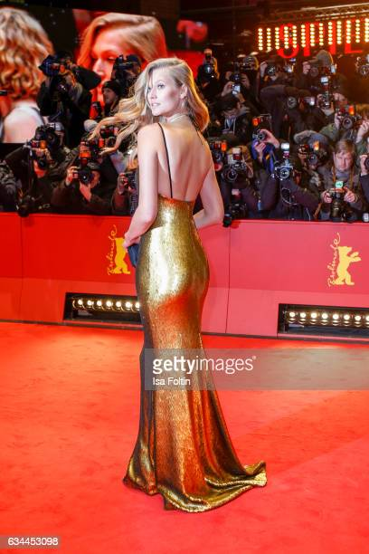 Model Toni Garrn attends the 'Django' premiere during the 67th Berlinale International Film Festival Berlin at Berlinale Palace on February 9 2017 in...