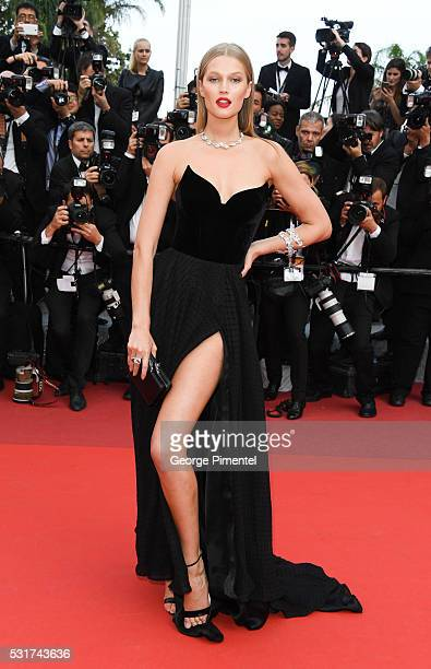 Model Toni Garrn attends the 'Loving' Premiere at the annual 69th Cannes Film Festival at Palais des Festivals on May 16 2016 in Cannes France