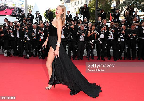 Model Toni Garrn attends the Loving premiere during the 69th annual Cannes Film Festival at the Palais des Festivals on May 16 2016 in Cannes France