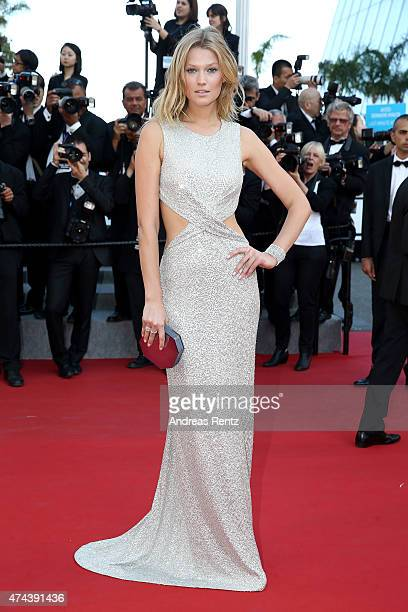 Model Toni Garrn attends the Premiere of 'The Little Prince' during the 68th annual Cannes Film Festival on May 22 2015 in Cannes France