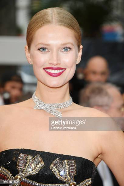 Model Toni Garrn attends the screening of Burning during the 71st annual Cannes Film Festival at Palais des Festivals on May 16 2018 in Cannes France