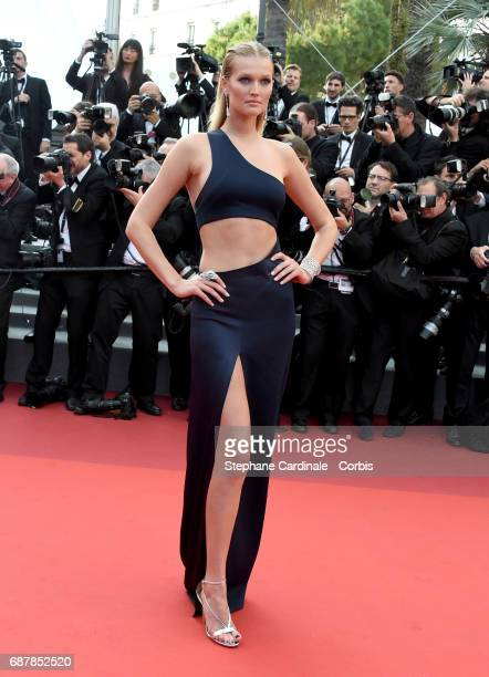 Model Toni Garrn attends the 'The Beguiled' screening during the 70th annual Cannes Film Festival at Palais des Festivals on May 24 2017 in Cannes...