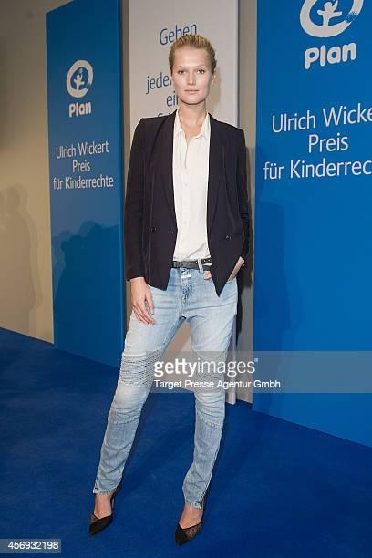 Model Toni Garrn attends the Ulrich Wickert Award for children's rights at Hamburger Bahnhof on October 9 2014 in Berlin Germany