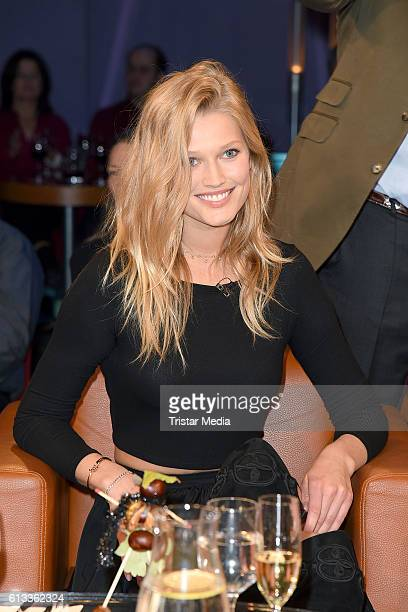Model Toni Garrn during the 'NDR Talk Show' Photocall on October 7 2016 in Hamburg Germany