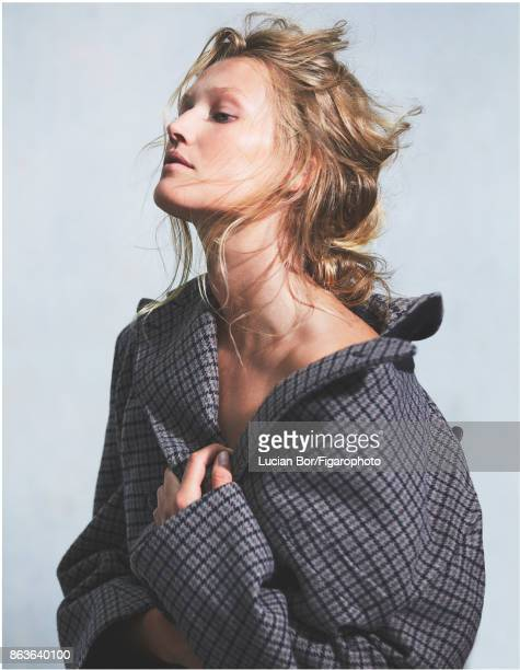 Model Toni Garrn poses at a fashion shoot for Madame Figaro on September 5 2017 in Paris France Coat PUBLISHED IMAGE CREDIT MUST READ Lucian...