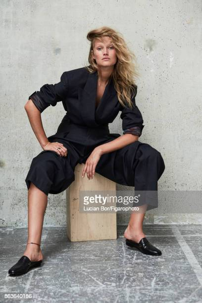 Model Toni Garrn poses at a fashion shoot for Madame Figaro on September 5 2017 in Paris France Jacket and pants shoes COVER IMAGE CREDIT MUST READ...