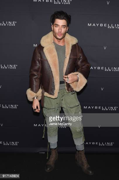 Model Toni Mahfud attends the Maybelline New York x V Magazine Party at the Nomo Soho Hotel on February 11 2018 in New York City