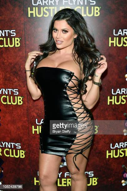 Model Toochie Cash celebrates 'National Ass Day' at Larry Flynt's Hustler Club on October 17 2018 in Las Vegas Nevada