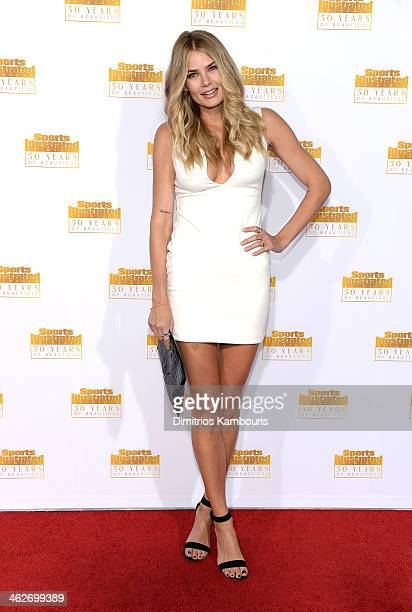 Model Tori Praver attends NBC and Time Inc celebrate the 50th anniversary of the Sports Illustrated Swimsuit Issue at Dolby Theatre on January 14...