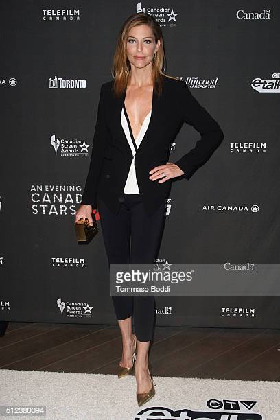Model Tricia Helfer attends the 3rd Annual 'An Evening With Canada's Stars' held at the Four Seasons Hotel Los Angeles at Beverly Hills on February...